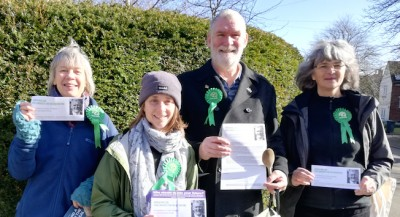 Leafleting in The Rissingtons